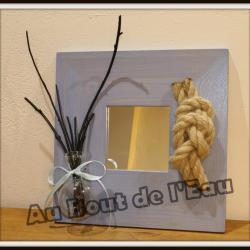 Miroir bleu (25 x 25 cm)