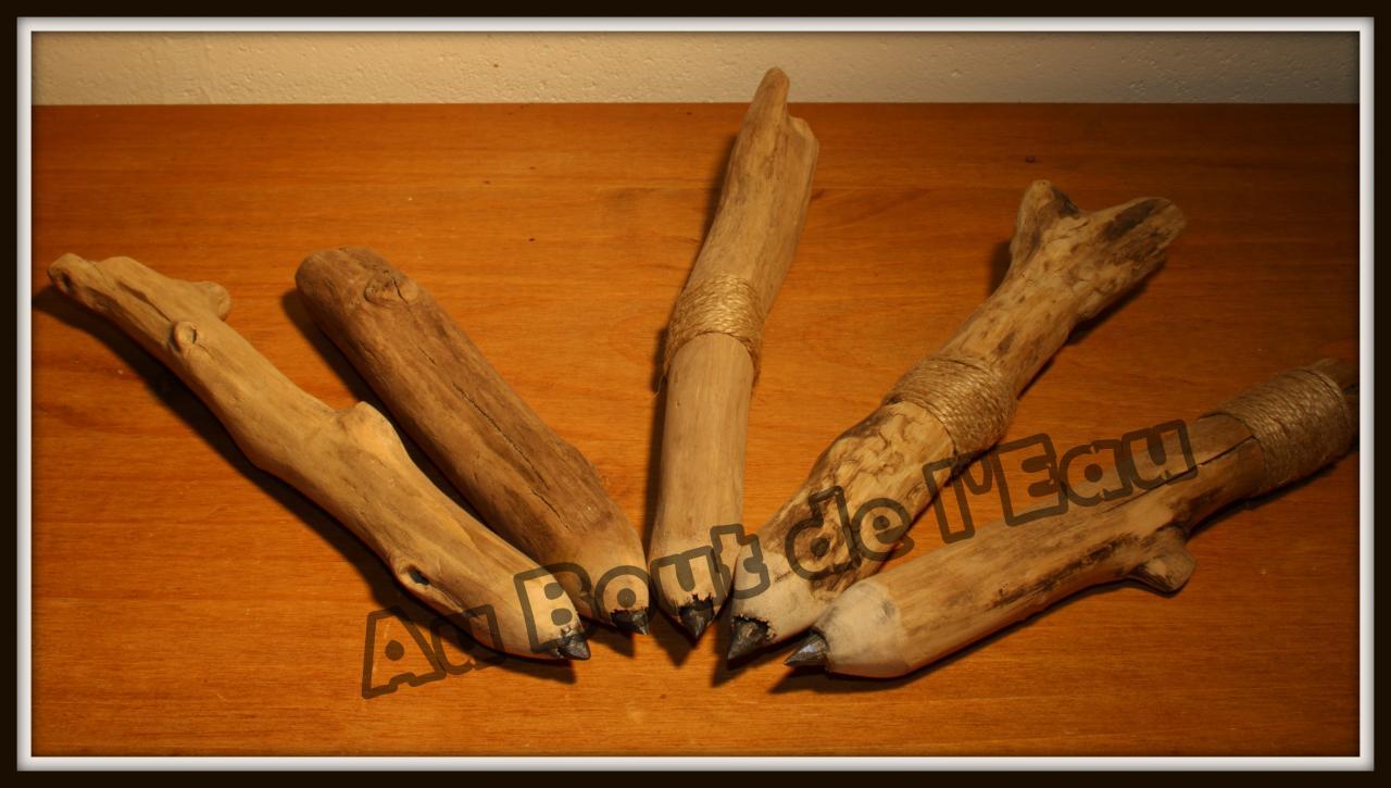 Mes crayons de bois... flotté    10 € pièce