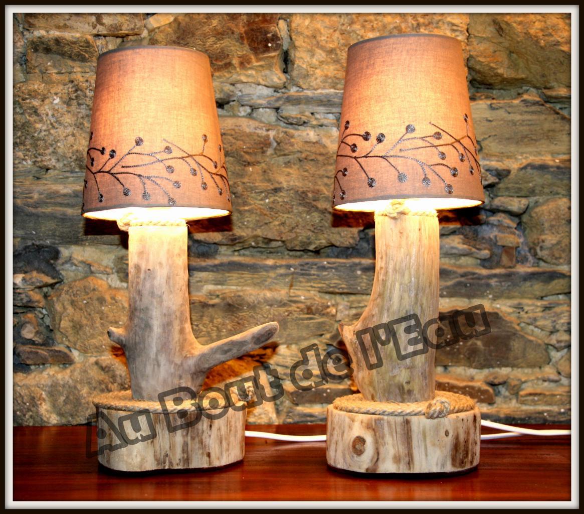 Lampes de chevet (30 x 10 cm)